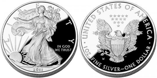 2011 American Eagle Silver Proof Coin (US Mint images)