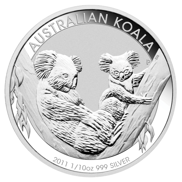 2011 Australian Koala Tenth Ounce Coin (Perth Mint Image)