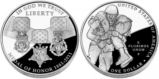2011 Medal of Honor Commemorative Silver Dollar Coin (US Mint images)
