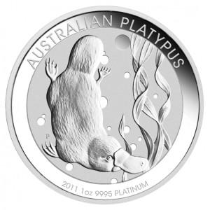 2011 Australian Platypus Platinum Bullion Coin, reverse