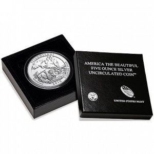 2010 Yellowstone National Park 5 Ounce Silver Uncirculated Coin (US Mint image)