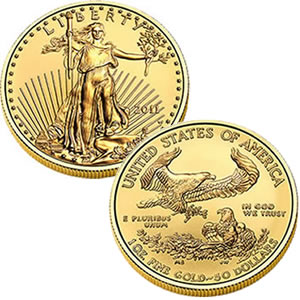 2011 American Eagle Uncirculated Gold Coin (US Mint images)