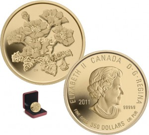 2011 Gold Mountain Avens Coin (Royal Canadian Mint images)