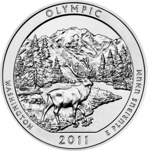 2011 Olympic National Park Silver Bullion Coin (US Mint image)