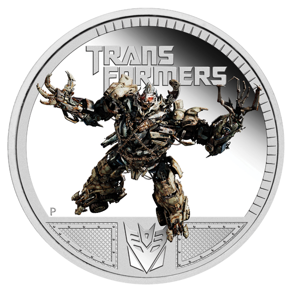 2011 Transformers Megatron Silver Proof Coin