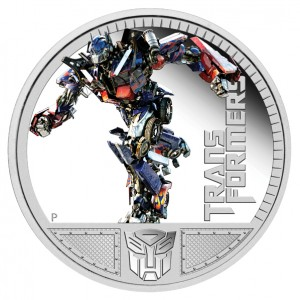 2011 Transformers Optimus Prime Silver Proof Coin