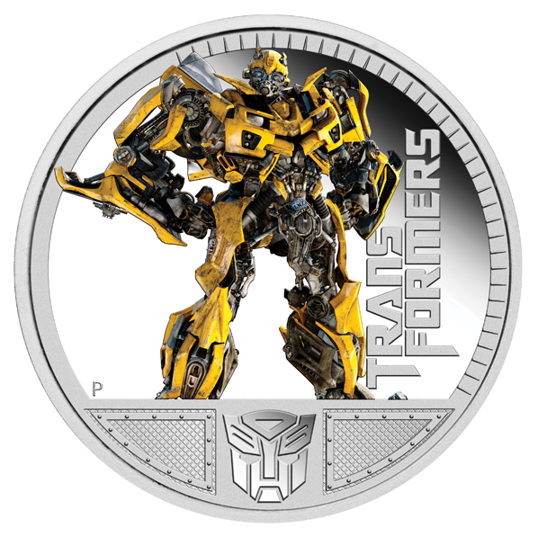 2011 Transformers Bumblebee Silver Proof Coin Also