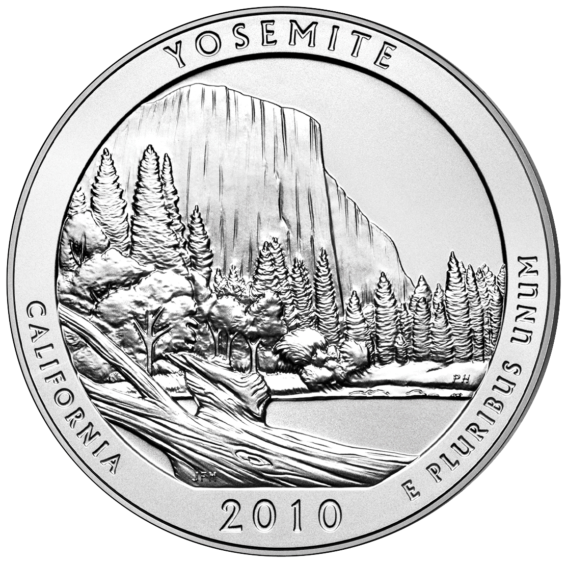 2010 Yosemite 5 Oz Silver Uncirculated Coin (US Mint image)