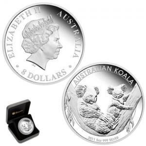 2011 Australian Koala 5 Oz Silver Proof Coin