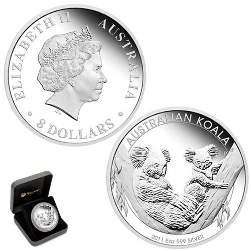 5 Oz Australian Koala Silver Proof Coin Available World