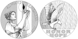 2011 September 11 National Medal Line Art (US Mint images)