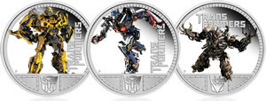 2011 Transformers Silver Proof Coins