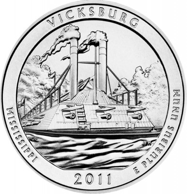 2011 Vicksburg National Military Park Silver Bullion Coin (US Mint image)
