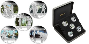 2011 Heroes and Villains 1 Oz Silver Proof Coin Set