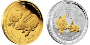 2011 Year of the Rabbit Gold and Silver Coins (Perth Mint images)