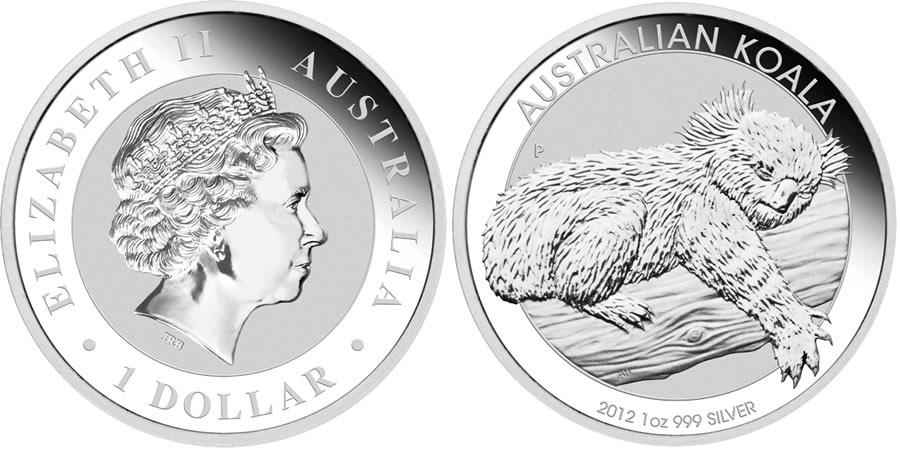 2012 Australian Perth Mint 1 Oz Koala Australia Pure Silver Coin In Capsule