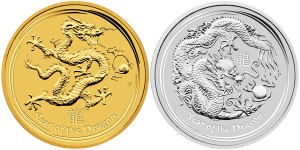 2012 Australian Lunar – Year of the Dragon Gold and Silver Bullion Coins