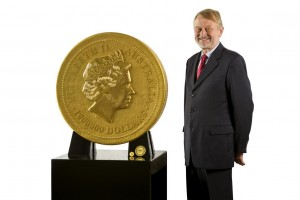 Perth Mint's 1 Tonne Gold Kangaroo Coin (Perth Mint image)