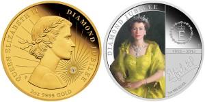 Queen Elizabeth II Diamond Jubilee Coins (Perth Mint images)
