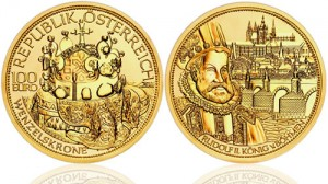 Saint Wenceslas Crown Gold Coin (Austrian Mint images)