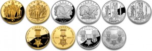 2011 US Mint Commemorative Coins (US Mint images)