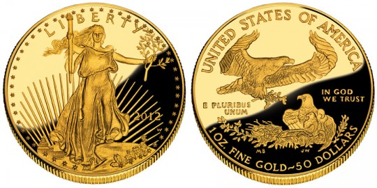 2012 American Eagle Gold Proof Coin (US Mint images)