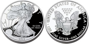 2012 American Eagle Silver Proof Coin (US Mint images)