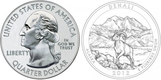 2012 Denali America the Beautiful Silver Bullion Coin (US Mint images)