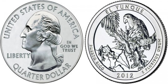 2012 El Yunque National Forest Quarter (US Mint images)
