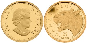 Cougar 0.5 g Gold Coin (Royal Canadian Mint images)