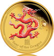 2012 Dragon Gold Proof Colored Coin