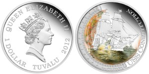 USS Constitution 1 Oz Silver Proof Coin (Perth Mint images)