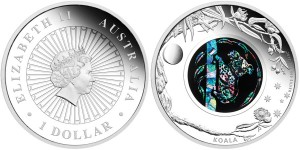 2012 Opal Series Koala Silver Proof Coin (Perth Mint images)