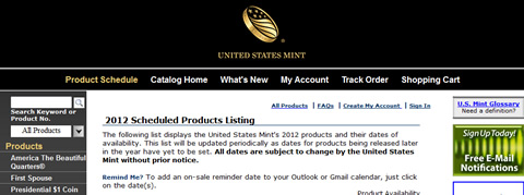 us mint product schedule us mint website image