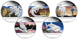 Discover Australia 2012 Five-Coin Set