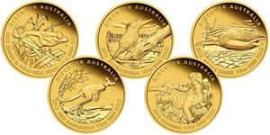 2012 Discover Australia Gold Five-Coin Set