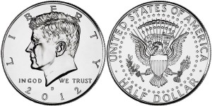 2012 Kennedy Half Dollar (US Mint images)