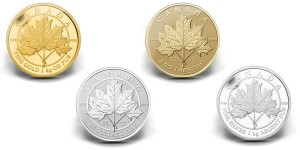 2012 Maple Leaf Forever Coins (Royal Canadian Mint images)