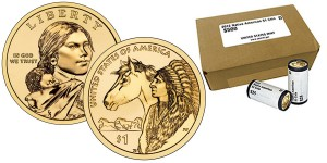 2012 Native American $1 Coin Rolls and Boxes (US Mint images)
