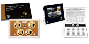 2012 Presidential $1 Coin Proof Set & 2012 ABQ Uncirculated Coin Set (US MInt images)