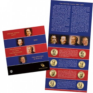 2012 Presidential $1 Coin Uncirculated Set (US Mint images)
