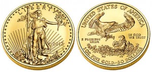 2012 American Eagle Gold Uncirculated Coin (US Mint images)