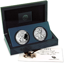 2012 American Eagle San Francisco Two-Coin Silver Proof Set (US Mint image)