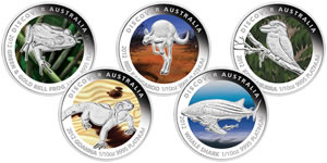 2012 Discover Australia Platinum Proof Coins