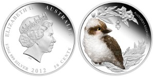 2012 Kookaburra 1/2 oz Silver Proof Coin