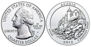 2012 America the Beautiful Five-Ounce Silver Uncirculated Coin™ – Acadia National Park, Maine