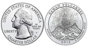 2012 Hawaii Volcanoes Silver Uncirculated Coin (US Mint image)