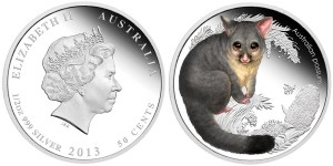 2013 Bush Babies Possum Silver Proof Coin