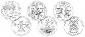 5-Star Generals Commemorative Coins Line-Art