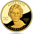 Alice Paul First Spouse Gold Coin